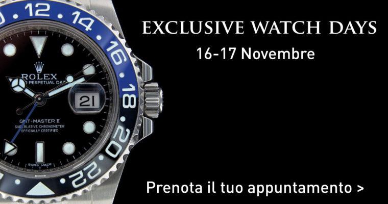 Exclusive Watch Days 16 e 17 Novembre
